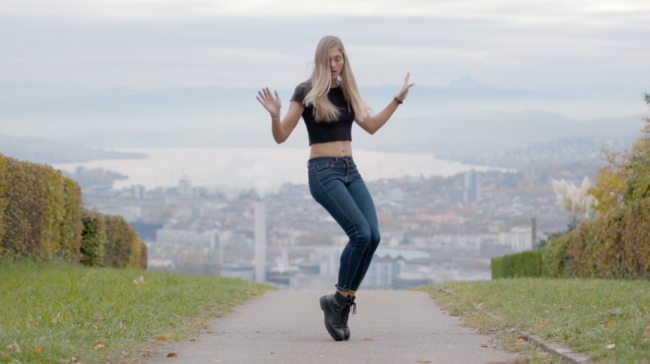 Shuffle Dance Video Model Arina Photographer Armin Nussbaumer